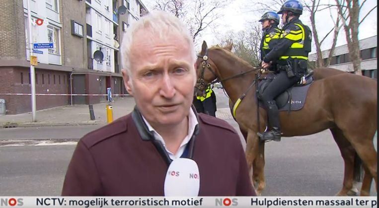 Verslaggever Theo Verbruggen in Utrecht Beeld NOS