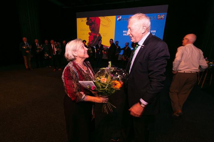 Minister Ank Bijleveld bij de première van de documentaire Onze Jongens in de Jungle.