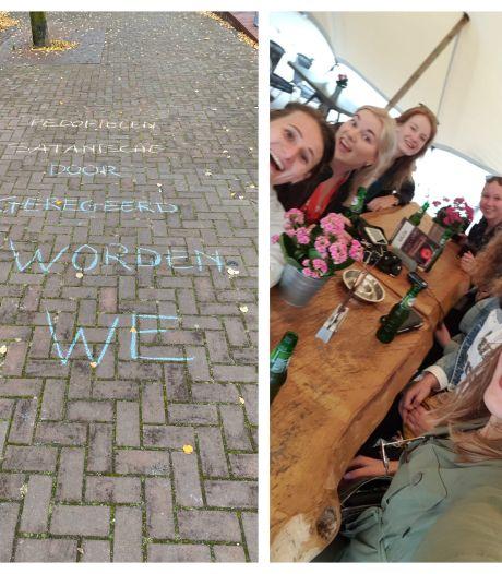 Gemist? Trottoir in Almelo beklad met rare teksten en Tubantia volgt vriendinnen in coronatijd