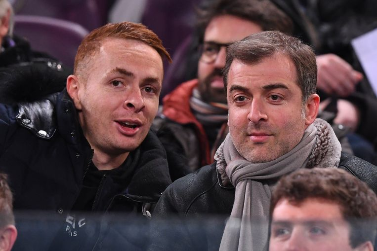 Bayat met Trebel in de tribunes van Anderlecht.