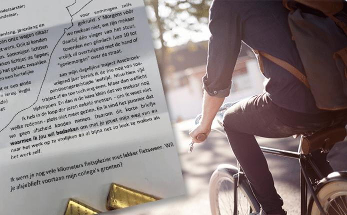 De bewuste brief met chocolade.