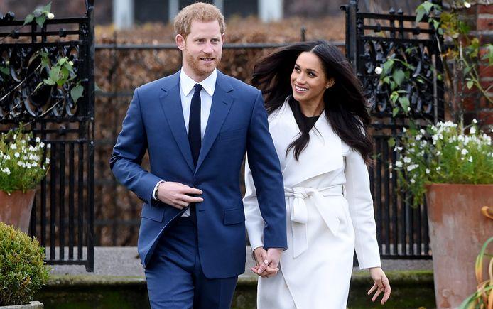 Prins Harry en zijn aanstaande bruid Meghan Markle.
