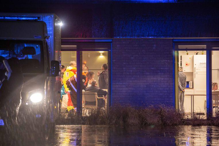 De bewoners werden opgevangen in de cafetaria van het woonzorgcentrum.