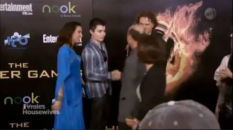 Rodger op de première van 'The Hunger Games'
