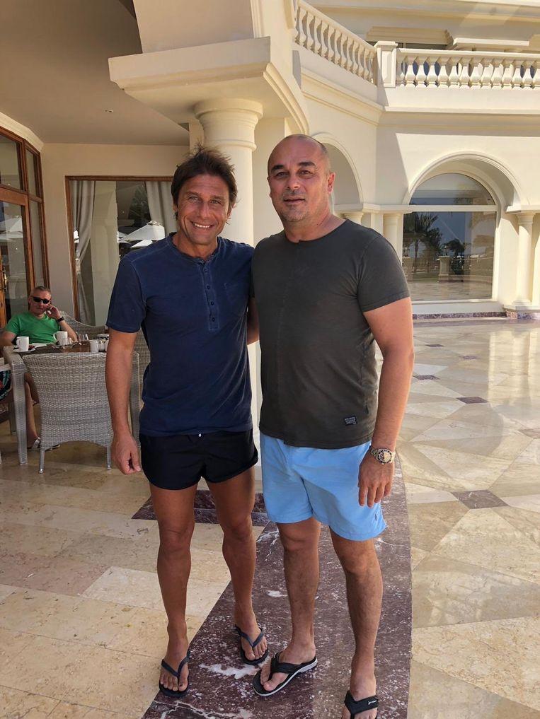 Antonio Conte op vakantie in Egypte