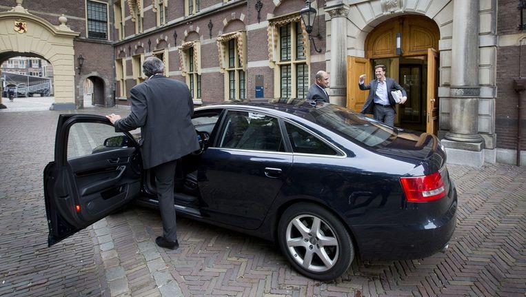 Minister-president Rutte verlaat in juni vorig jaar het Binnenhof. Beeld ANP