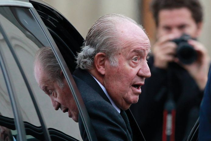 De Spaanse koning-emeritus Juan Carlos .