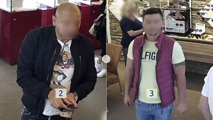 De twee winkeldieven sloegen toe in een brillenwinkel in Laren en een opticien in Bunschoten.