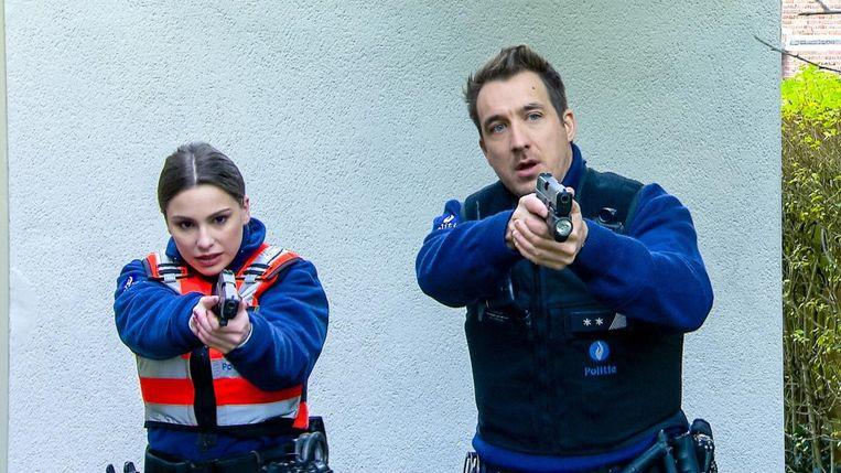 Aan de zijde van Andy Peelman in 'De buurtpolitie'. Liandra is sinds gisteren te zien als inspecteur Louise.
