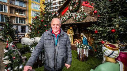 """Martin (72) versiert Knokke-Heist met 160 bomen, duizenden lichtjes en reusachtige kerststal: """"Het is nu eenmaal mijn passie"""""""