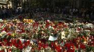 Bloemenzee voor slachtoffers Spanje