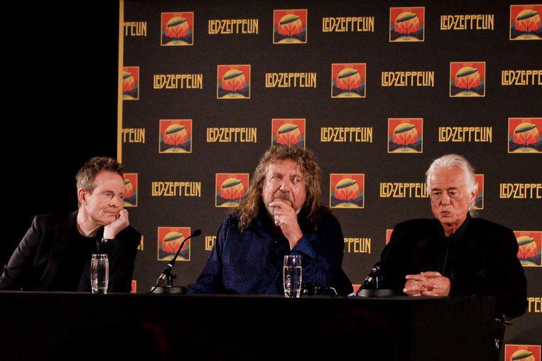 John Paul Jones, Robert Plant en Jimmy Page. Beeld ap