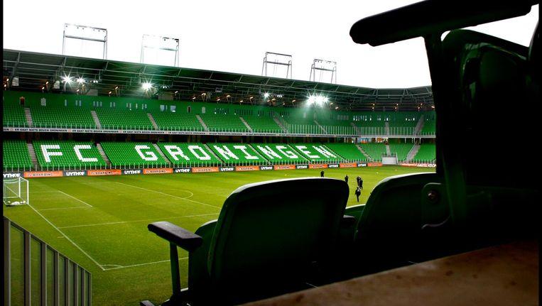 Het stadion van FC Groningen, Euroborg Beeld Klaas Jan van der Weij