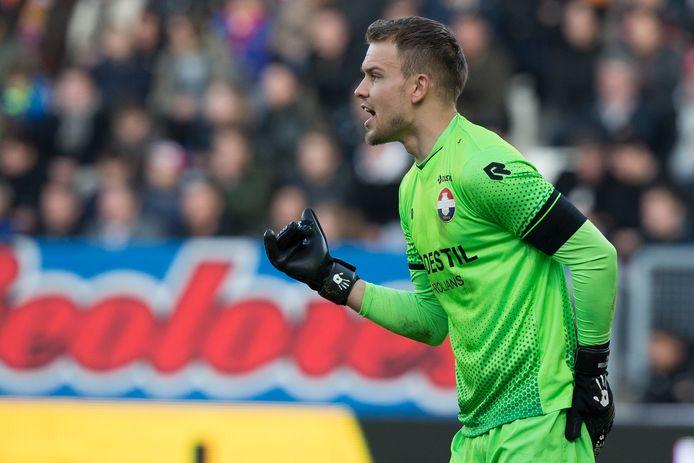 Wellenreuther in het doel van Willem II tijdens de overwinning op PSV (2-1).