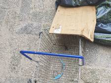 Overleden pitbullpup gevonden in winkelmandje in kanaal bij Breukelen