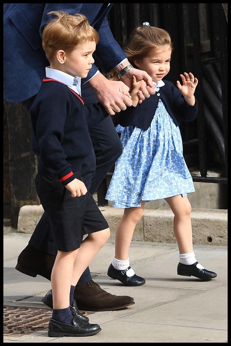 Prins George en prinses Charlotte.