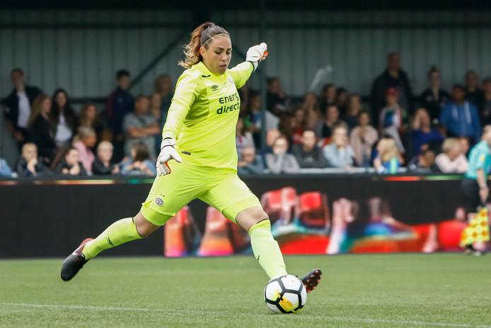 Angela Christ tijdens haar laatste wedstrijd voor PSV.