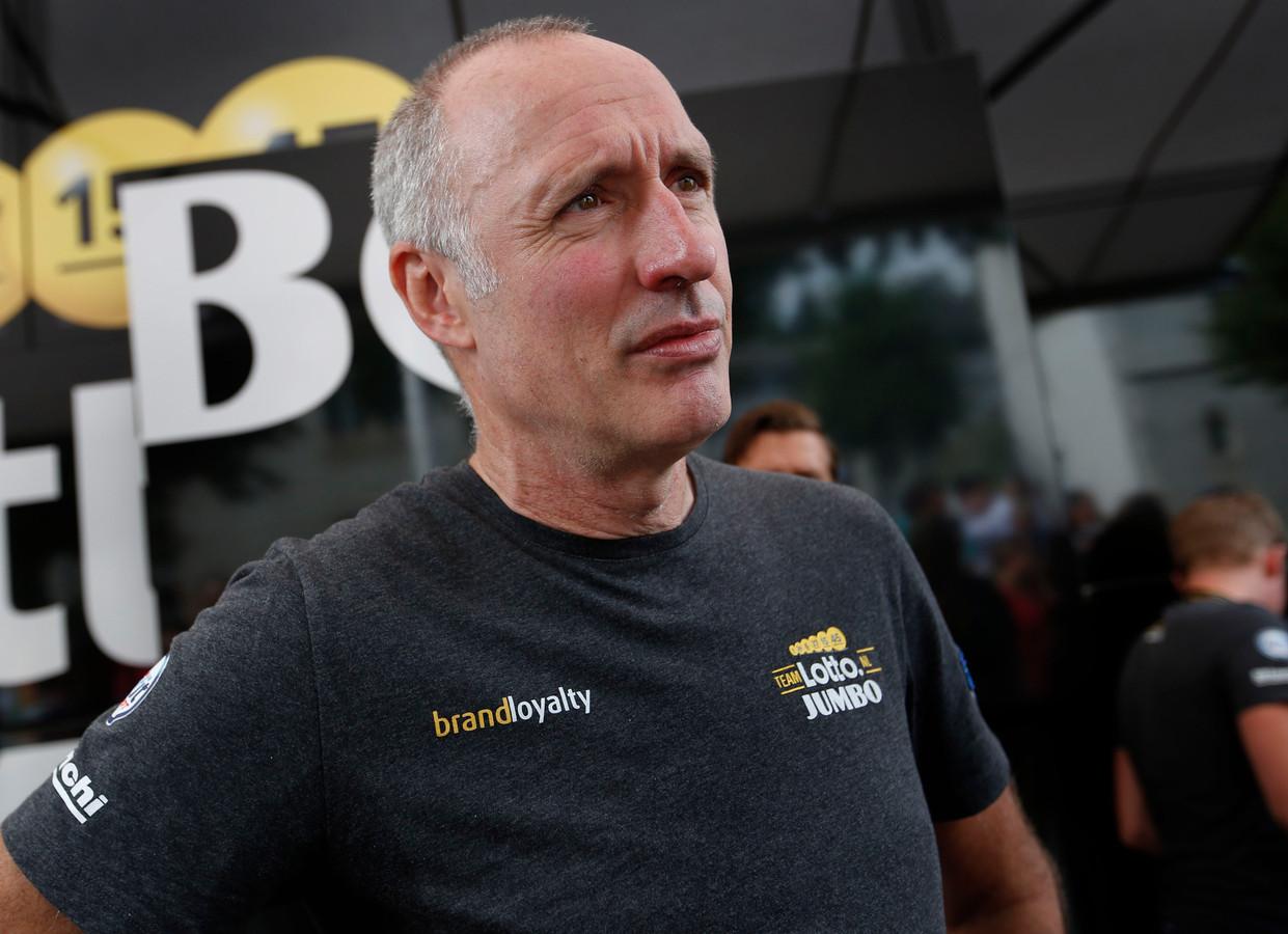 Nico Verhoeven tijdens de Tour de France afgelopen zomer.