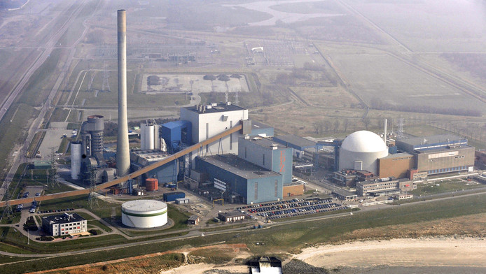 Luchtopname van de kerncentrale van Borssele. Volgens het RIVM is de kans op een kernramp in Nederland klein, maar er zijn wel voorzorgsmaatregelen genomen.