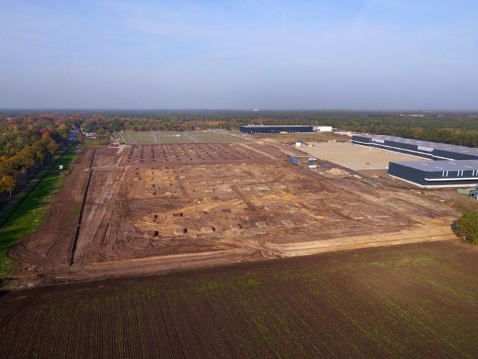 Op bedrijventerrein Westfields in Oirschot werd in 2018 begonnen met de bouw van een nieuw distributiecentrum.