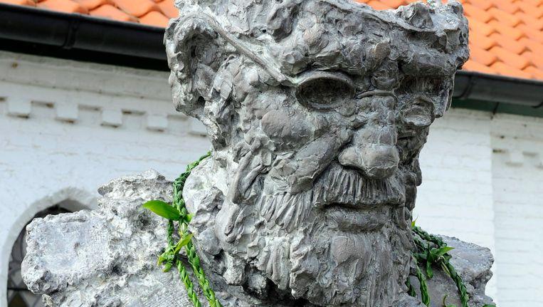 ARCHIEFBEELD: Beeld van Pater Damiaan in Tremelo