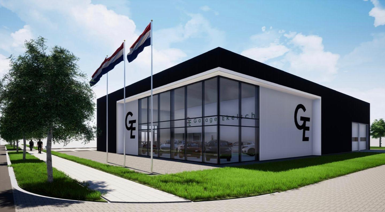 Een impressie van de nieuwbouw van Garage Ekelschot in Kaatsheuvel.