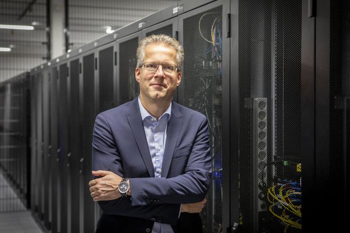 Odin-oprichter Hans Lesscher, gefotografeerd in datacenter Previder, verkoopt de meerderheid in zijn bedrijf aan Belgische investeerders.