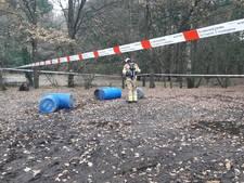 Vaten met drugsafval gedumpt in Wageningen-Hoog