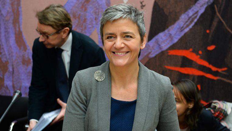 De Deense Europese Commissaris voor Mededinging Margrethe Vestager.