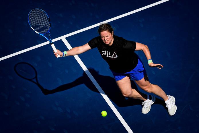 Kim Clijsters à l'entraînement, samedi à Dubaï