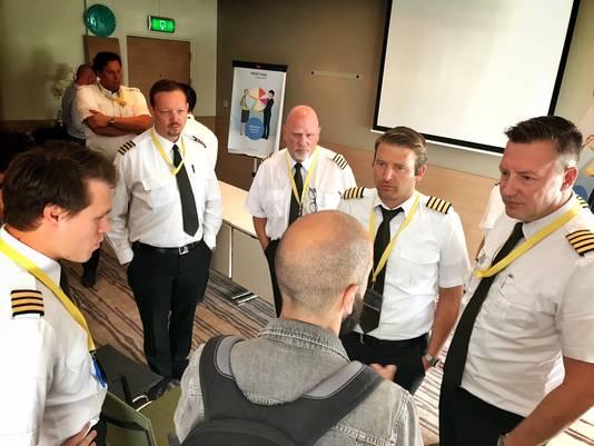 Stakende piloten van Ryanair in Eindhoven.