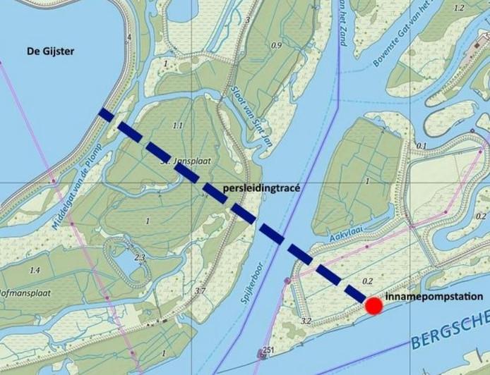 De persleiding van 1,5 kilometer die naar De Gijster leidt.