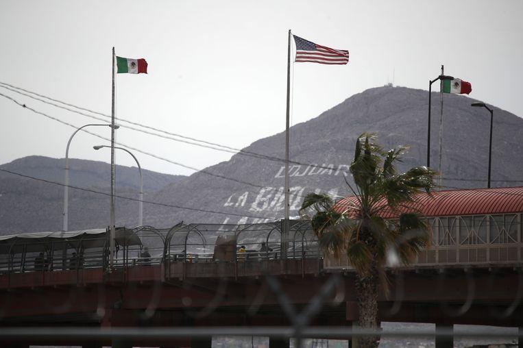De grens tussen Mexico en de Verenigde Staten. Beeld AFP