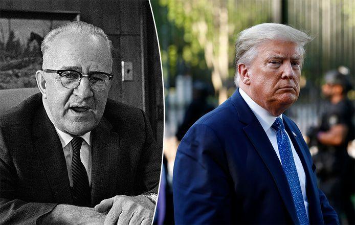 Links Eugene 'Bull' Connor, rechts president Trump.