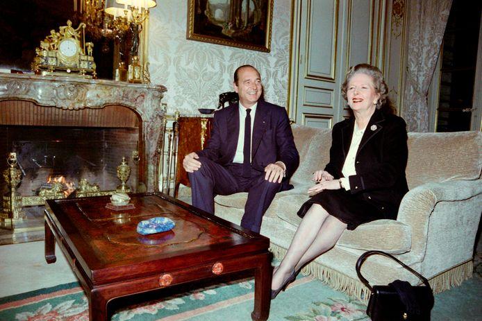 Jacques Chirac met Margaret Thatcher in 1987.