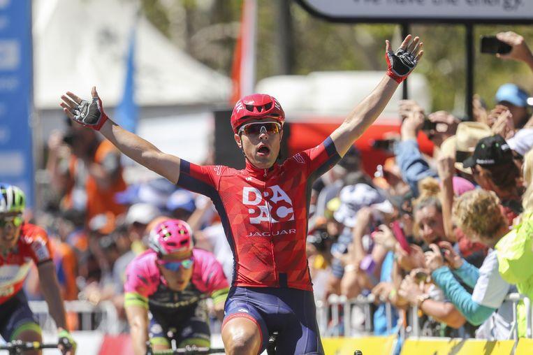 Wouter Wippert wint de slotrit in de Tour Down Under. Beeld afp