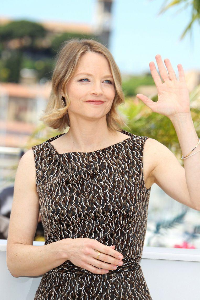 Actrice Jodie Foster dit jaar tijdens het filmfestival van Cannes, waar The Beaver in premiere ging. © Brunopress Beeld