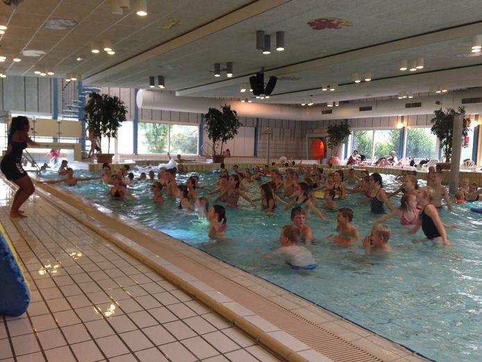 Archieffoto van een activiteit in zwembad De Veldkamp