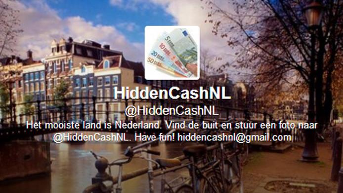De Twitteraccount van HiddenCash in Amsterdam.