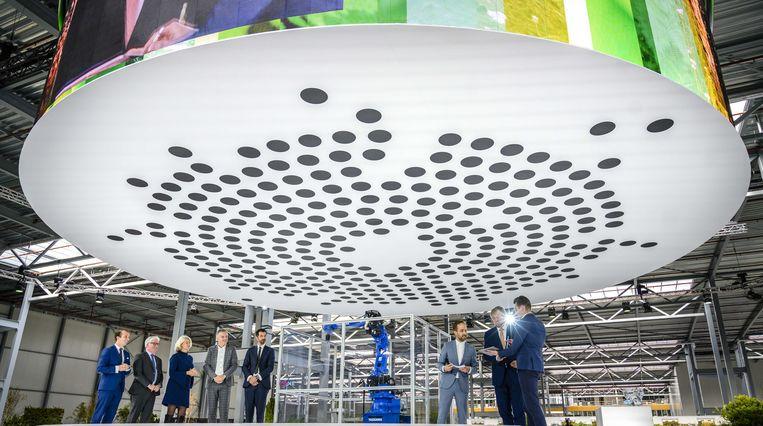Koning Willem-Alexander tijdens de opening van Brainport Industries Campus (BIC) in Eindhoven in oktober van dit jaar.  Beeld ANP