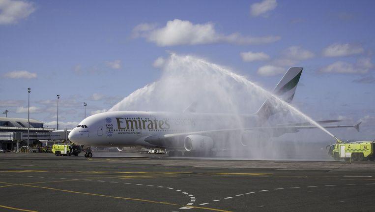 Een Emirates Airbus A380. Beeld ANP