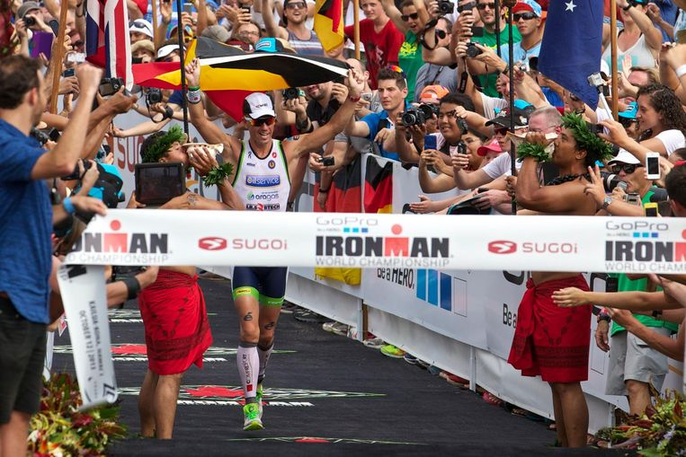 Van Lierde won in 2013 de Ironman in Hawaï