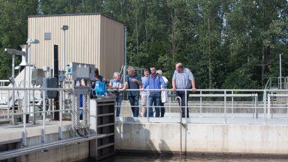 Rondleiding buren op uitgebreid waterzuiveringsstation in Bilzen