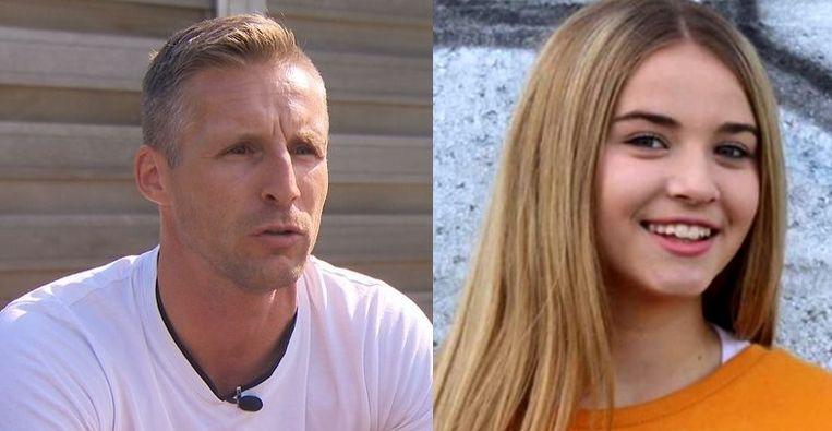 Christophe Hazaer, nonkel van het dodelijke slachtoffer en zijn nichtje Kayleigh.