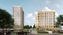 In het linker gebouw van 60 meter hoog komen de vrije sectorwoningen, in het rechter gebouw van 23 meter hoog de sociale huurwoningen.