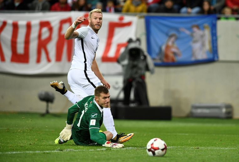 Adam Nemec (ex-RC Genk) scoorde voor Slowakije