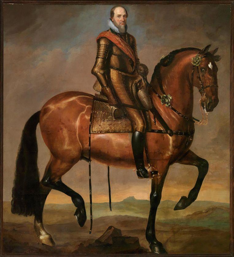 Ruiterportret van Maurits, prins van Oranje door Anselm van Hulle. Beeld Koninklijke Verzamelingen, Den Haag