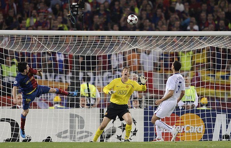De bewuste goal waarmee Messi Barcelona de Champions League bezorgde in 2009. En ook de goal waarmee hij 289 andere Europese bekerwinnaars van Barcelona een jaarlijkse toemaatje bezorgde.