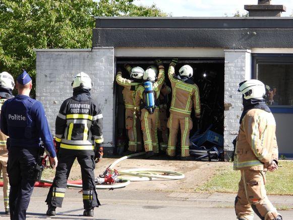 De brandweermannen hadden de situatie snel onder controle.