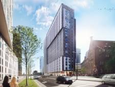 Nieuwe woontoren in hartje Rotterdam gaat schijnen als de avond valt